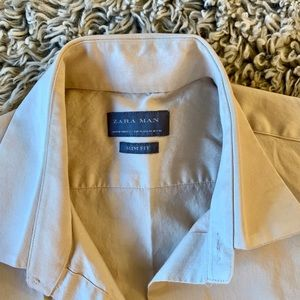 ZARA MAN Tan / Brown Button Up